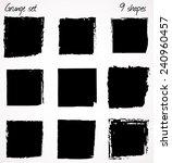 9 grunge shapes. | Shutterstock . vector #240960457