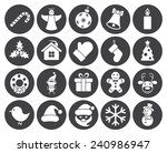 christmas icons  modern flat... | Shutterstock .eps vector #240986947