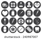 medical icons  modern flat... | Shutterstock .eps vector #240987007