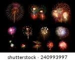 all beautiful fireworks | Shutterstock . vector #240993997