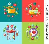 illustration of flat design... | Shutterstock . vector #241019917