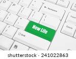 white keyboard keys with new... | Shutterstock . vector #241022863