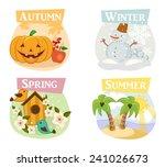four seasons flat icons  winter ...   Shutterstock .eps vector #241026673