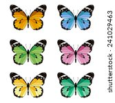 set butterfly | Shutterstock .eps vector #241029463