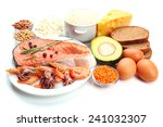 food high in protein isolated... | Shutterstock . vector #241032307