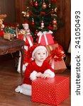 little girl in x mas costume... | Shutterstock . vector #241050493