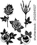 black roses vintage | Shutterstock .eps vector #241054537