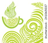 green tea illustration | Shutterstock . vector #241065037