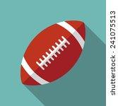 football icon witn long shadow. ... | Shutterstock .eps vector #241075513