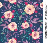 watercolor floral seamless... | Shutterstock . vector #241080367