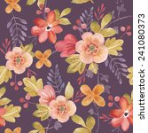 watercolor floral seamless... | Shutterstock . vector #241080373