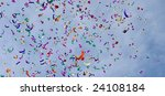 confetti on the air against... | Shutterstock . vector #24108184
