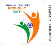 happy republic day greeting... | Shutterstock .eps vector #241089553