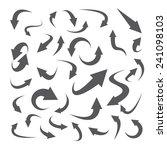 arrow icon set. vector... | Shutterstock .eps vector #241098103