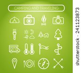 set of simple icons for camping ... | Shutterstock .eps vector #241123873