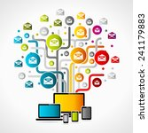 internet mail vector... | Shutterstock .eps vector #241179883