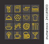 set of simple icons for bar ... | Shutterstock .eps vector #241185853