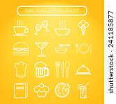 set of simple icons for bar ... | Shutterstock .eps vector #241185877