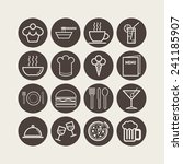 set of simple icons for bar ... | Shutterstock .eps vector #241185907