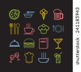 set of simple icons for bar ... | Shutterstock .eps vector #241185943