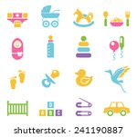 simple colored children toys... | Shutterstock .eps vector #241190887