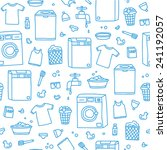 laundry service seamless vector ... | Shutterstock .eps vector #241192057