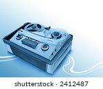 vintage grey analog recorder...   Shutterstock . vector #2412487