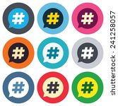 hashtag speech bubble sign icon.... | Shutterstock .eps vector #241258057