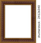 a picture gold frame on a white | Shutterstock . vector #24126340