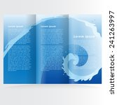 brochure design template water  | Shutterstock .eps vector #241263997
