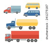 trucks flat icons set. | Shutterstock . vector #241275187