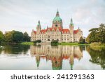 Stock photo new town hall in hanover germany in the evening 241291363