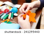 process of hand made soft toys... | Shutterstock . vector #241295443
