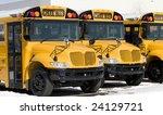 Line Of New School Buses