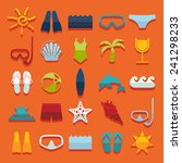 set of summer tourism icons | Shutterstock .eps vector #241298233