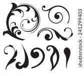 floral decorative elements | Shutterstock .eps vector #241299403