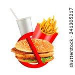 fast food danger label | Shutterstock . vector #241305217
