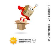 delivery mascot. shipping... | Shutterstock .eps vector #241308847