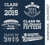 graduation vector set   let's... | Shutterstock .eps vector #241310317