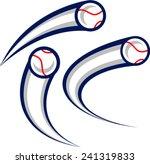 flying baseballs | Shutterstock .eps vector #241319833