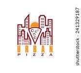 urban pizza with sun vector... | Shutterstock .eps vector #241329187