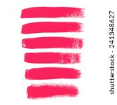 pink ink vector brush strokes | Shutterstock .eps vector #241348627