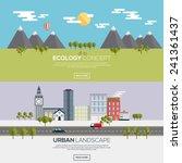 flat designed banners for... | Shutterstock .eps vector #241361437