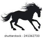 beautiful horse. silhouette. | Shutterstock .eps vector #241362733