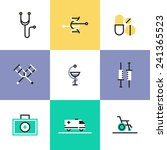 flat line icons of first aid... | Shutterstock .eps vector #241365523