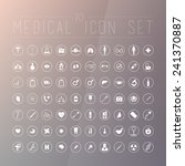 70 medical icons for web ... | Shutterstock .eps vector #241370887
