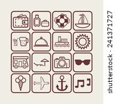 set of simple icons for... | Shutterstock .eps vector #241371727