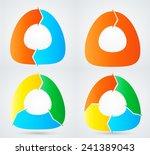 set of vector circular arrows .  | Shutterstock .eps vector #241389043