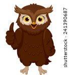 illustration of a smiling owl... | Shutterstock .eps vector #241390687