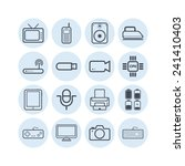 set of simple flat icons with... | Shutterstock .eps vector #241410403